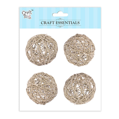 Wicker Balls Natural -2.5inch