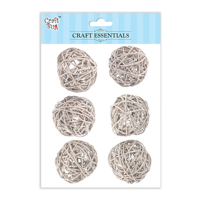 Wicker Balls Cream -1.5inch
