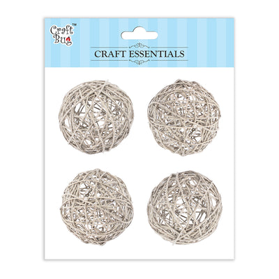 Wicker Balls Cream -2.5inch