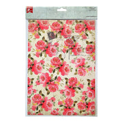 Decoupage Paper A4size, 4sheets - Blossoming