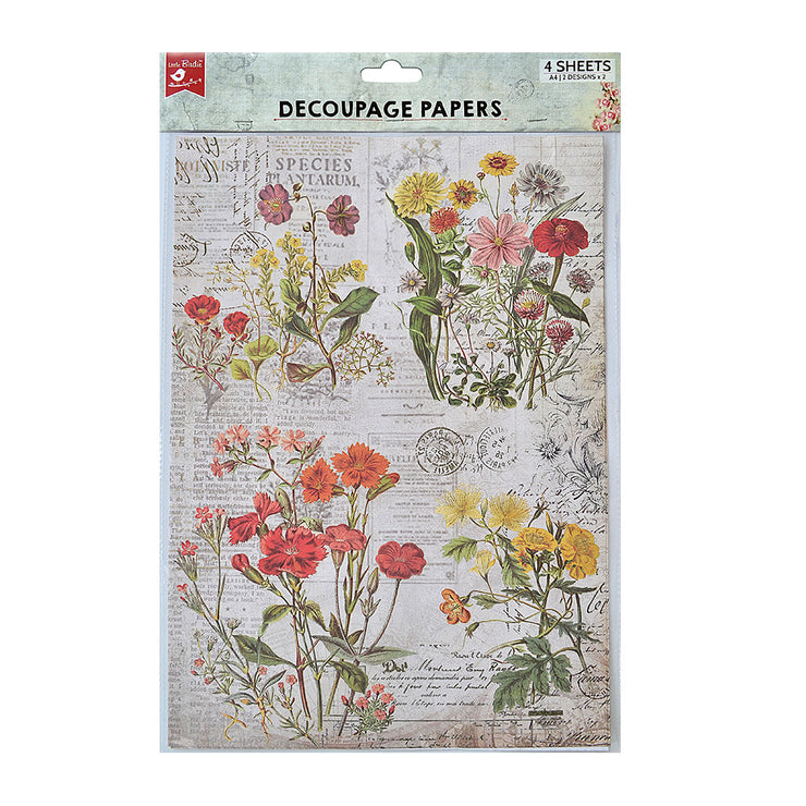 Decoupage Paper A4size, 4sheets - Wild