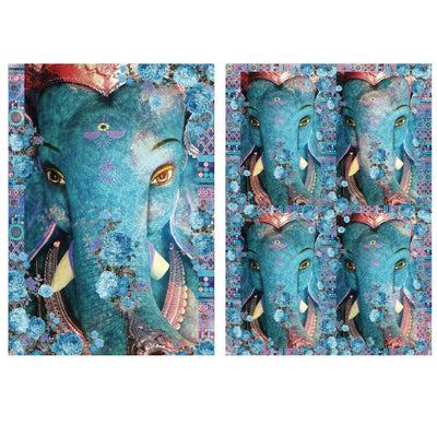 Decoupage Filament Paper A4 Size 2Sheets -Shree Ganesha LB