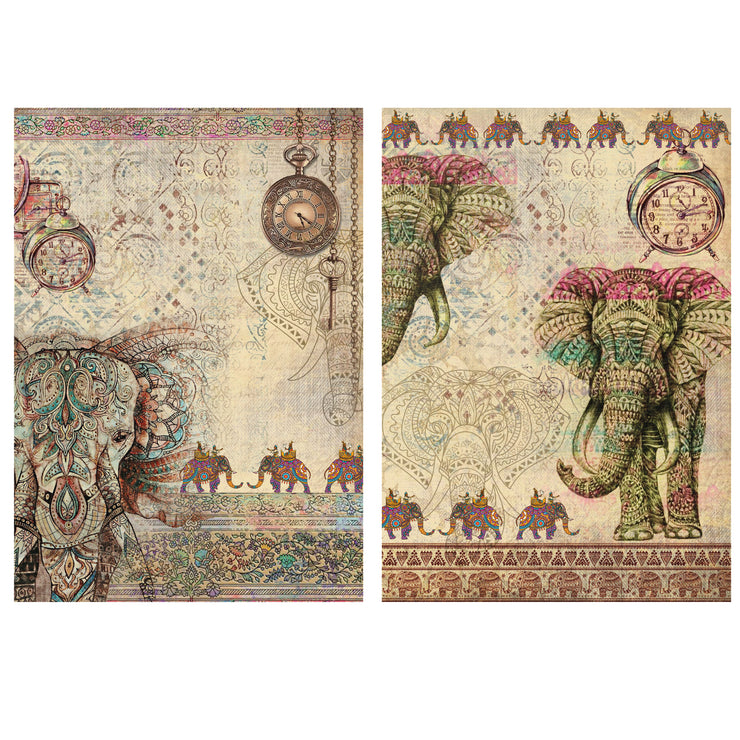 Decoupage Filament Paper A4 Size 2Sheets -Royal Elephant LB