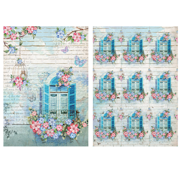 Decoupage Filament Paper A4 Size 2Sheets -Window Garden LB