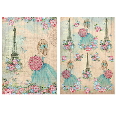 Decoupage Filament Paper A4 Size 2Sheets -Paris Memories LB