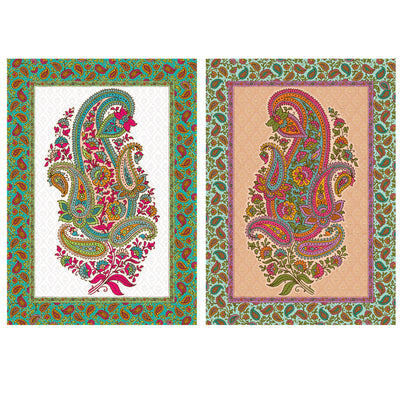 Decoupage Filament Paper A4 Size 2Sheets -Paisley Party LB
