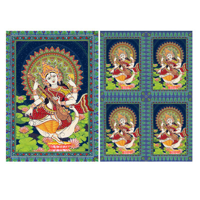 Decoupage Filament Paper A4 Size 2Sheets - Saraswati Blessings