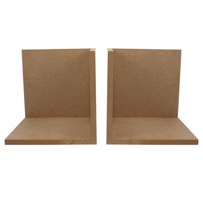 MDF Bookend L Cut - 8inch X 8inch, 2pc