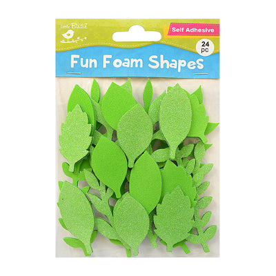 Fun Foam Shapes - Luxurious Leaves, 24 Pcs
