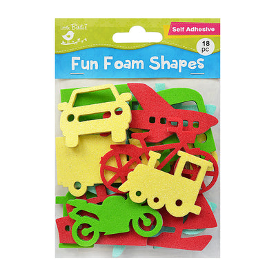 Fun Foam Shapes - Modes of Transport, 18 Pcs