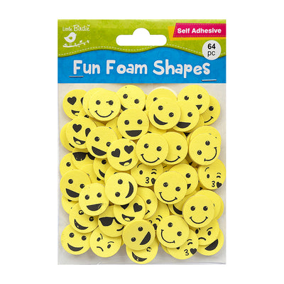 Fun Foam Shapes - Expressions, 64Pcs
