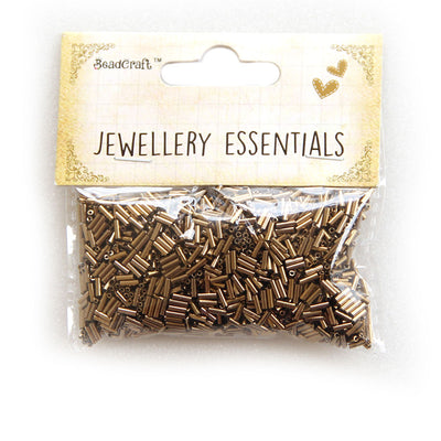 Bugle Beads 30gm - Gold