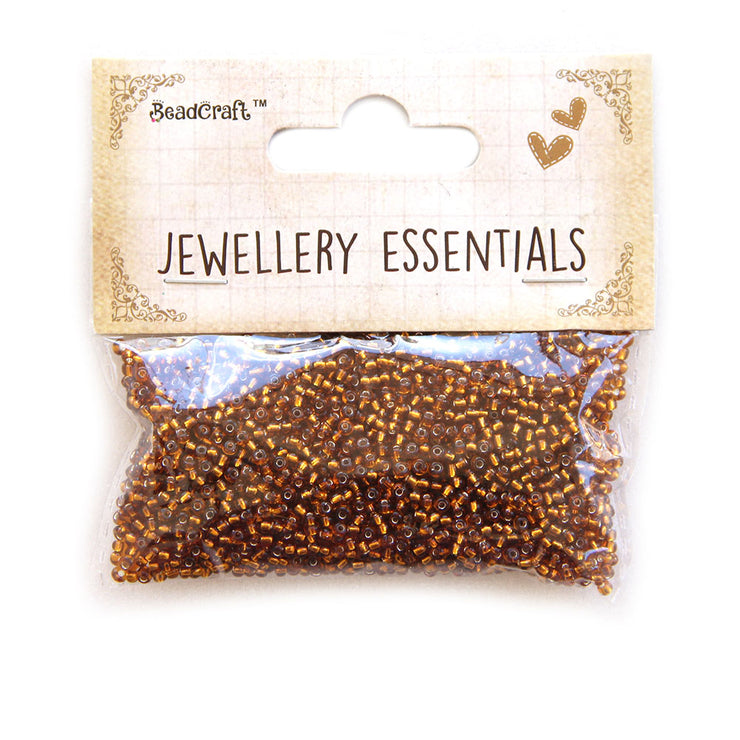 Seed Beads 0.5mm,30gm - Transparent Brown