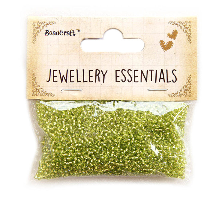 Seed Beads 0.5mm,30gm - Transparent Green