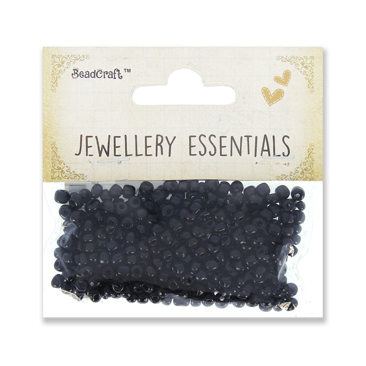 Seed Beads 3mm,30gm - Black