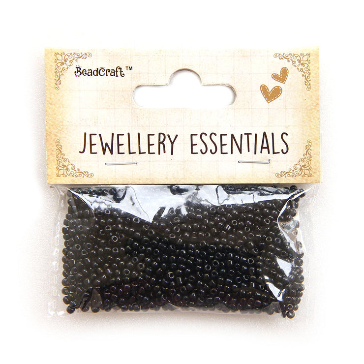 Seed Beads 1mm,30gm - Black
