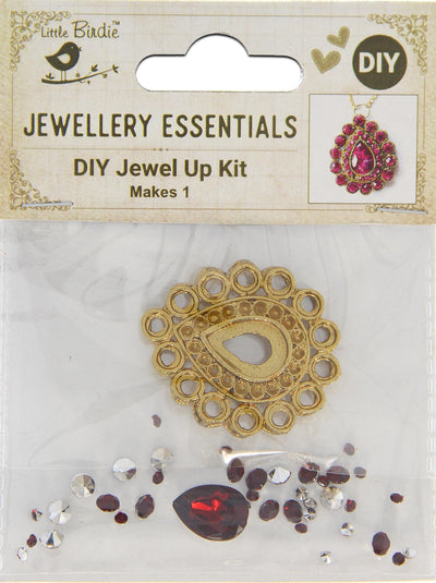 DIY Pendant with Crystals 1 Set - Aahini, Ruby