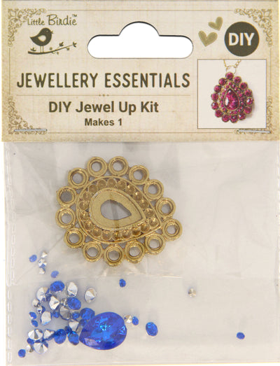 DIY Pendant with Crystals 1 Set - Aahini,Azure