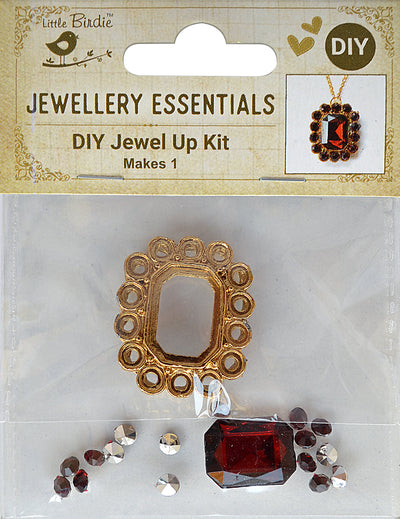 DIY Pendant with Crystals 1 Set - Akriti, Ruby
