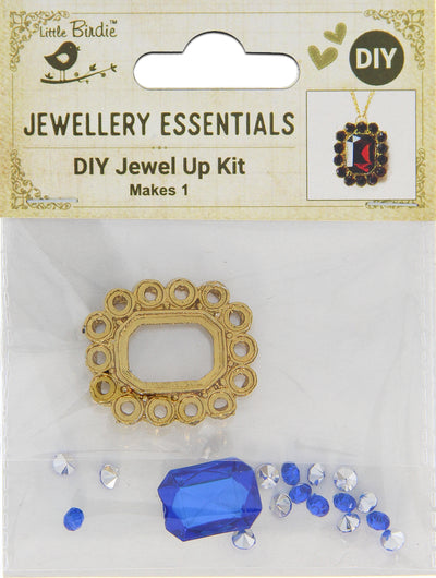 DIY Pendant with Crystals 1 Set - Akriti, Azure