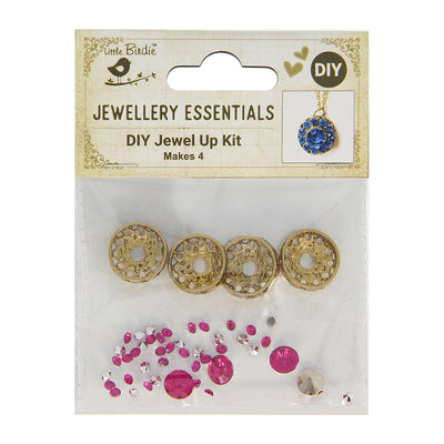 DIY Pendant with Crystals 1 Set - Ojas, Rose