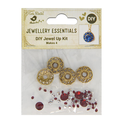DIY Pendant with Crystals 1 Set - Ojas, Ruby