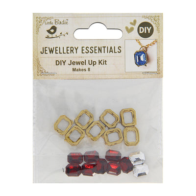 DIY Pendant with Crystals 1 Set - Kanti, Ruby
