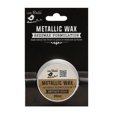 Metallic Wax - Antique Gold, 20ml, 1pc