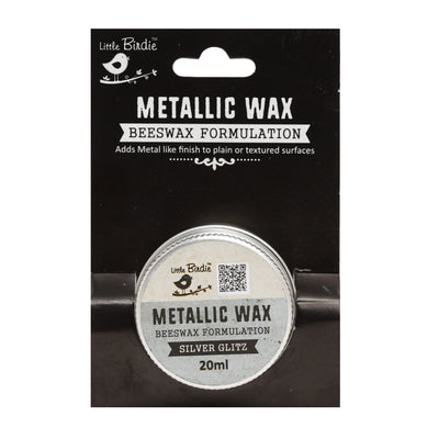 Metallic Wax - Silver Glitz, 20ml, 1pc