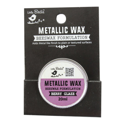 Little Birdie Metallic Wax - Berry Glaze, 20ml, 1pc