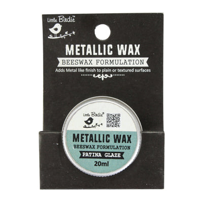 Little Birdie Metallic Wax - Patina Glaze, 20ml, 1pc