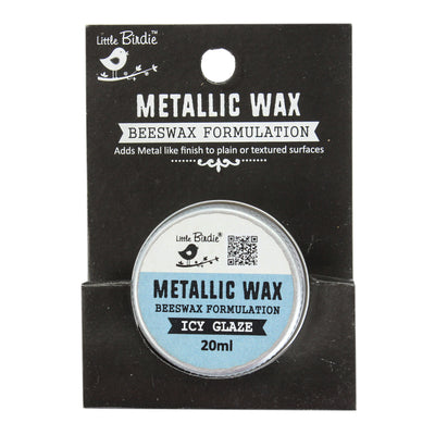 Little Birdie Metallic Wax - Icy Glaze, 20ml, 1pc