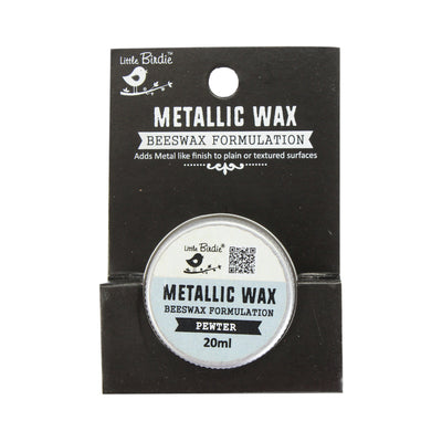Little Birdie Metallic Wax - Pewter, 20ml, 1pc