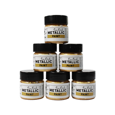 Share Pack Tinted Metallic Paint - Golden Glaze, 20ml, 6pc