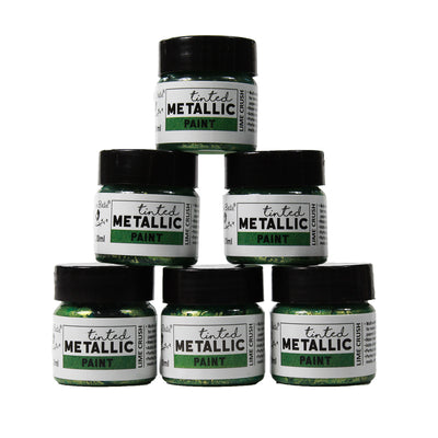 Share Pack Tinted Metallic Paint - Lime Crush, 20ml, 6pc