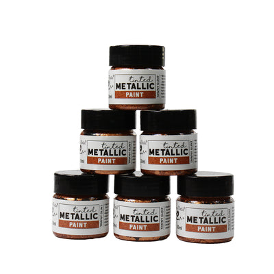 Share Pack Tinted Metallic Paint - Tawny glint, 20ml, 6pc