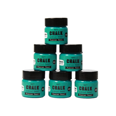 Share Pack Home Decor Chalk Paint - Tuscan Teal, 20ml, 6pc