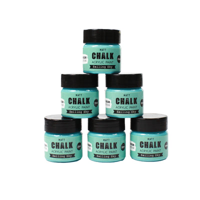 Share Pack Home Decor Chalk Paint - Sailing Sky, 20ml, 6pc