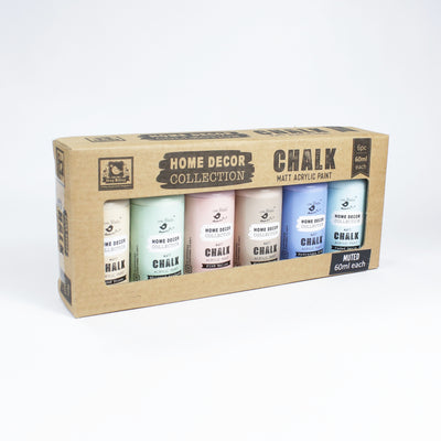 Home Decor Chalk Paint Kit 6Pcs X 60Ml Muted
