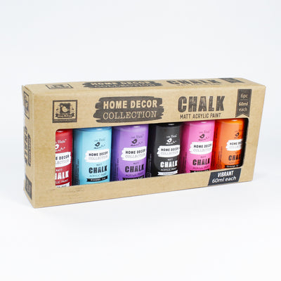 Home Decor Chalk Paint Kit 6Pcs X 60Ml Vibrant