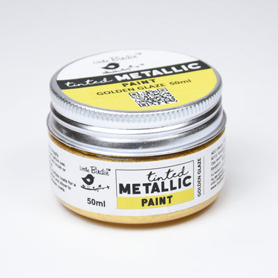 Tinted Metallic Paint 50ML - Golden Glaze, 1pc