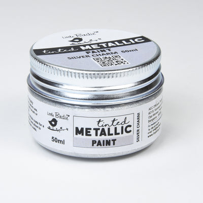 Tinted Metallic Paint 50ML - Silver Charm, 1pc