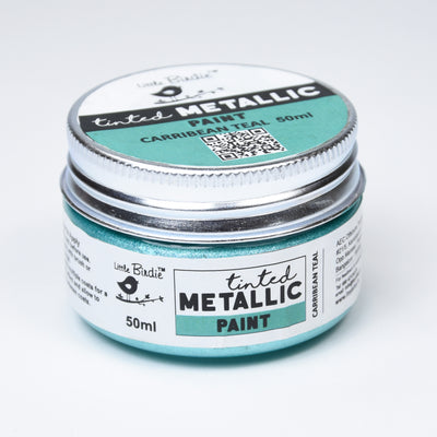 Tinted Metallic Paint 50ML - Carribean Teal, 1pc