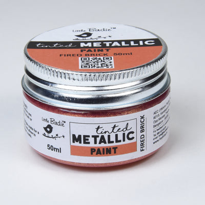 Tinted Metallic Paint 50ML - Fired Brick, 1pc