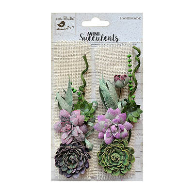 Succulent Burlap Patch- 2 Pieces