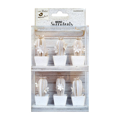 Desert Flora White - 6Pieces
