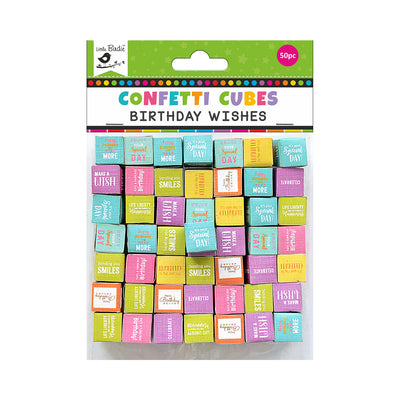 Confetti Cubes  Birthday Wishes- 50Pcs