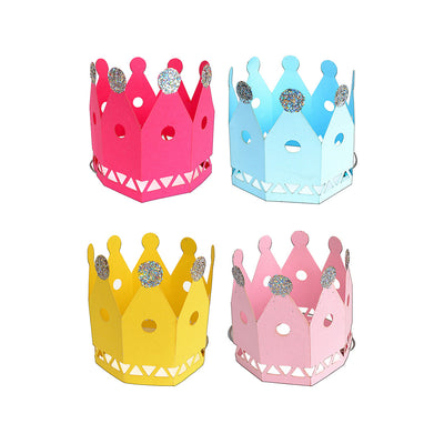 Birthday Crown Assorted Colours- 8Pcs
