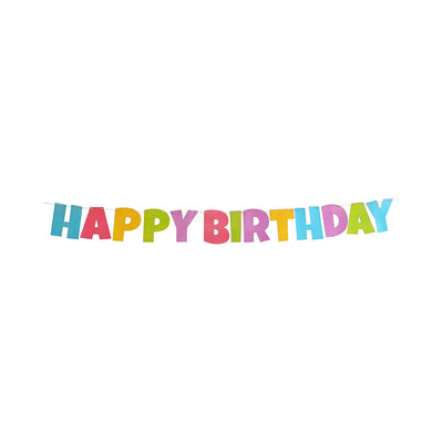 Happy Birthday Banner With 2M Thread- 13Pcs