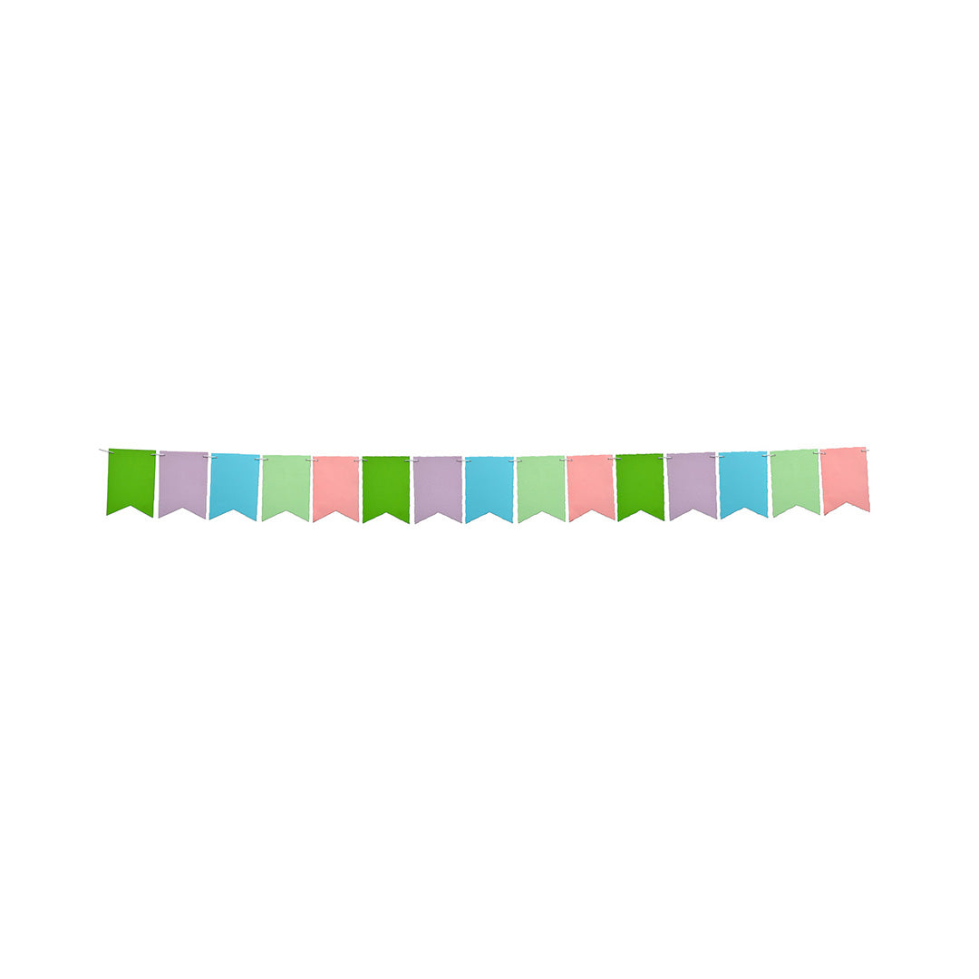 BOYS 12th BIRTHDAY PARTY BANNER MULTI COLOUR BUNTING
